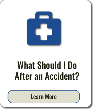 Graphic of text that reads What Should I Do After an Accident