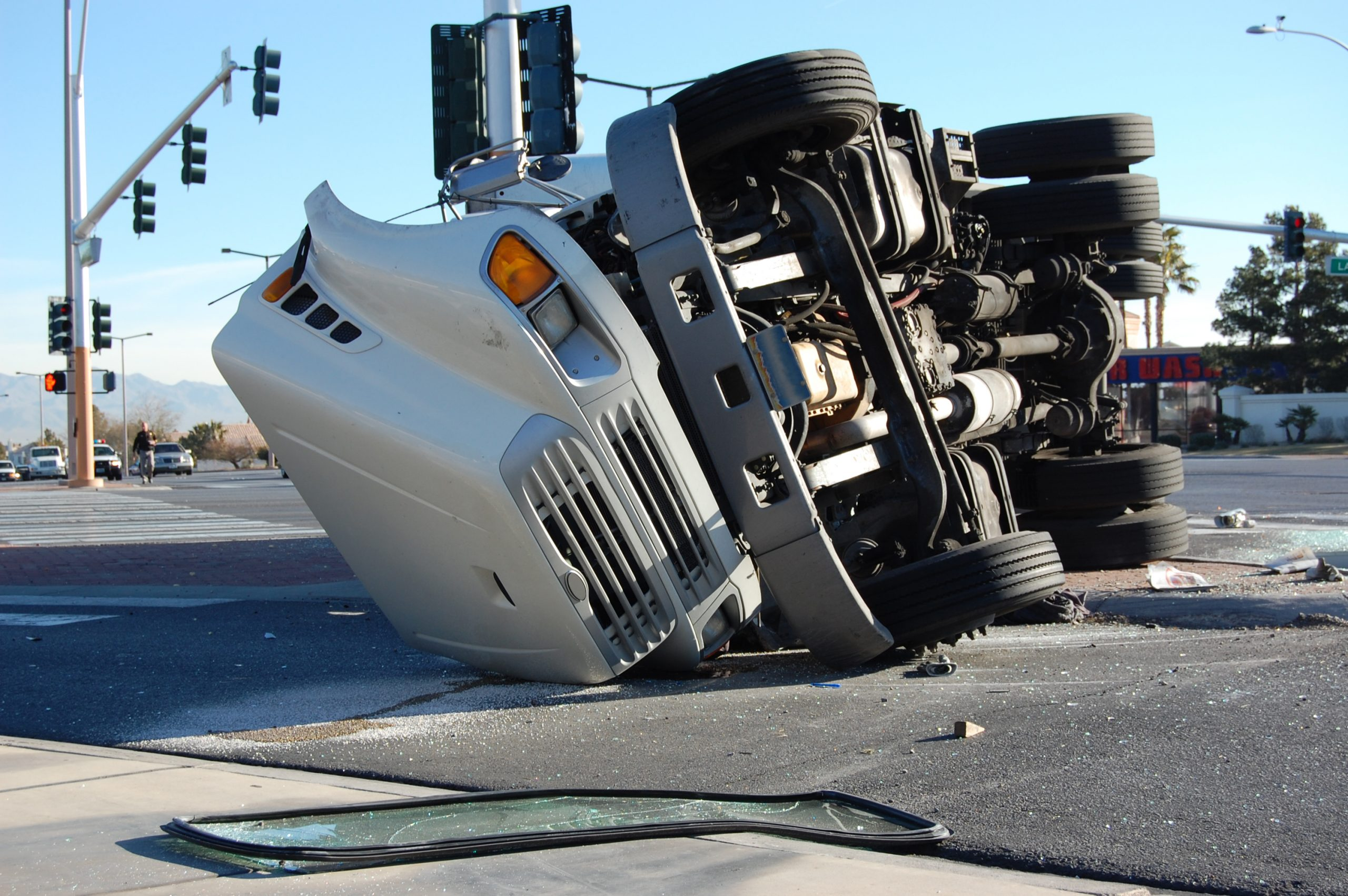 Picture of overturned truck
