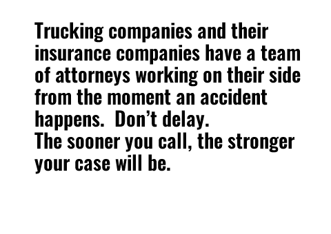 Graphic of text about trucking companies